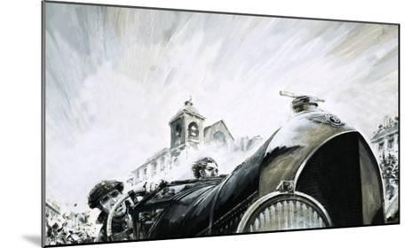 Leslie Pennal, Pioneering Mechanic of the Early Racing Days-Graham Coton-Mounted Giclee Print