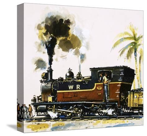 Narrow Guage Wt Class Bagnall-Built Tank Engine on the Western Railways-John S^ Smith-Stretched Canvas Print