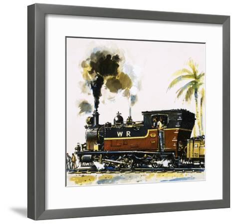 Narrow Guage Wt Class Bagnall-Built Tank Engine on the Western Railways-John S^ Smith-Framed Art Print