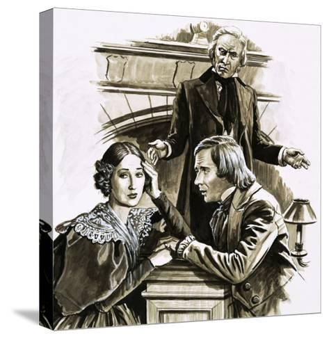 Robert Schumann's Proposal to Pianist Clara Wieck Was a Turning Point in His Life-Roger Payne-Stretched Canvas Print