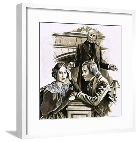 Robert Schumann's Proposal to Pianist Clara Wieck Was a Turning Point in His Life-Roger Payne-Framed Art Print