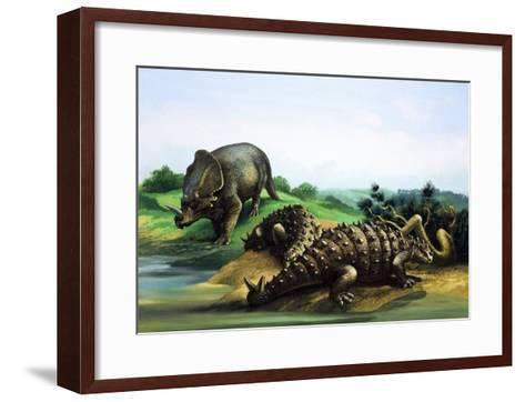Monoclonius and Scolosaurus--Framed Art Print
