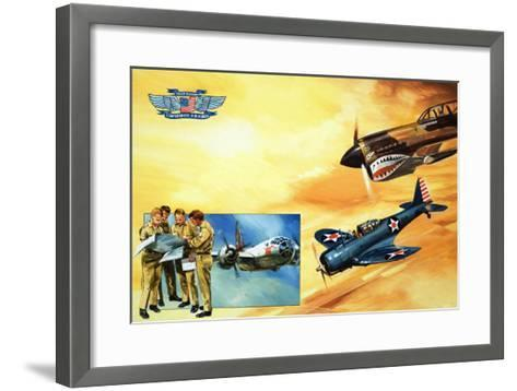 Planes of the Confederate Air Force-Gerry Wood-Framed Art Print