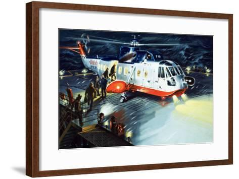 British Airways Rescue Helicopter-Wilf Hardy-Framed Art Print