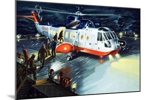 British Airways Rescue Helicopter-Wilf Hardy-Mounted Giclee Print