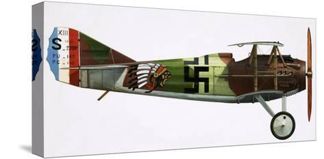 Unidentified Biplane--Stretched Canvas Print