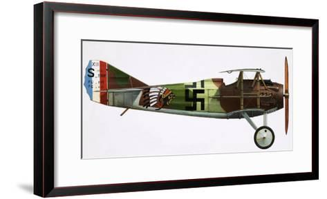 Unidentified Biplane--Framed Art Print