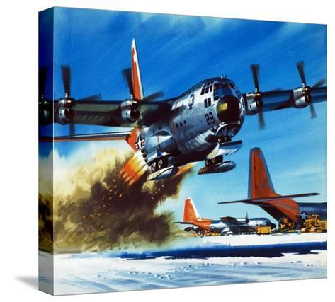 Into the Blue: South Pole Air Base-Wilf Hardy-Stretched Canvas Print