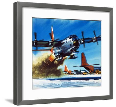 Into the Blue: South Pole Air Base-Wilf Hardy-Framed Art Print