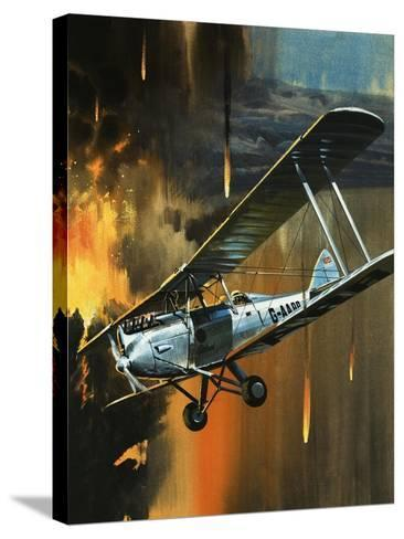Famous Aircraft and Their Pilots: de Havilland Gipsy Moth - Jean Batten-Wilf Hardy-Stretched Canvas Print
