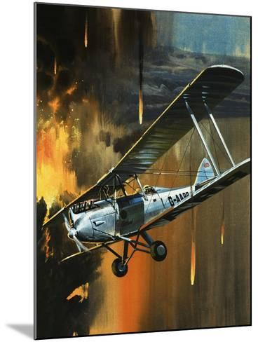 Famous Aircraft and Their Pilots: de Havilland Gipsy Moth - Jean Batten-Wilf Hardy-Mounted Giclee Print