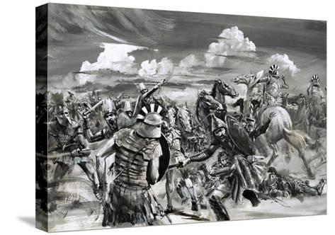 Victory at Gaugamela For Alexander the Great-Graham Coton-Stretched Canvas Print