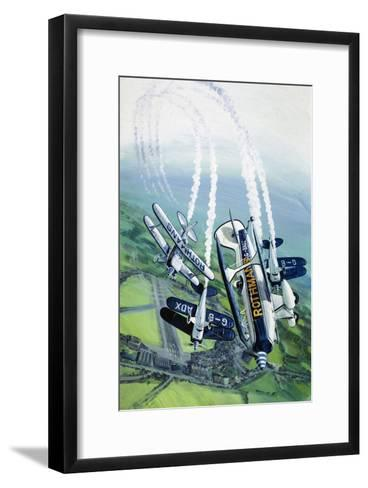 The Rothmans Aerobatics Team Flying in Their Stampe SV4B Biplanes-Wilf Hardy-Framed Art Print