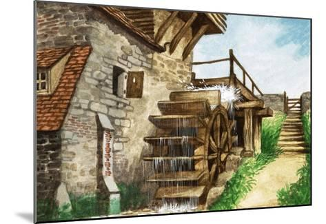 Old Water Mill by a Stream-Peter Jackson-Mounted Giclee Print