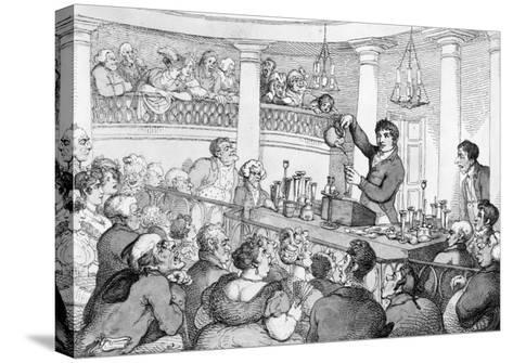 Chemical Lectures, c.1809-Thomas Rowlandson-Stretched Canvas Print