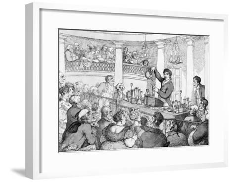 Chemical Lectures, c.1809-Thomas Rowlandson-Framed Art Print