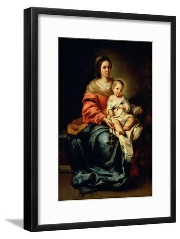 The Madonna of the Rosary-Bartolome Esteban Murillo-Framed Art Print