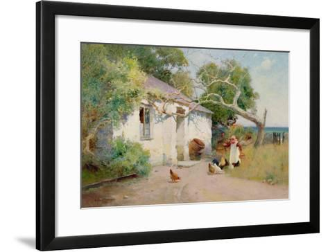 Feeding the Hens, 1894-Arthur Claude Strachan-Framed Art Print