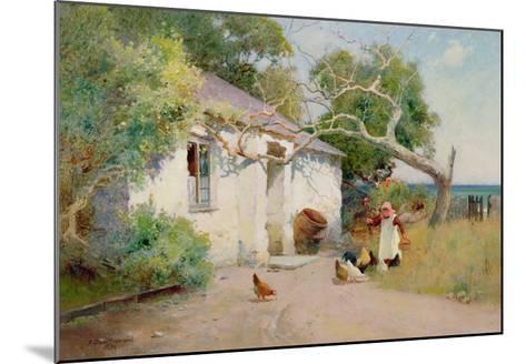 Feeding the Hens, 1894-Arthur Claude Strachan-Mounted Giclee Print