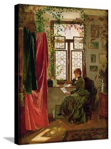 Reading the Letter-Peter Kraemer-Stretched Canvas Print