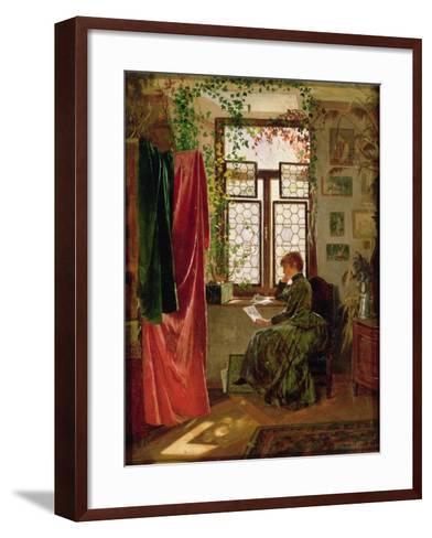 Reading the Letter-Peter Kraemer-Framed Art Print