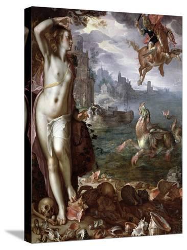 Perseus Rescuing Andromeda, 1611-Joachim Wtewael Or Utewael-Stretched Canvas Print