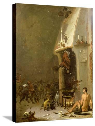 Witch's Tavern-Cornelis Saftleven-Stretched Canvas Print