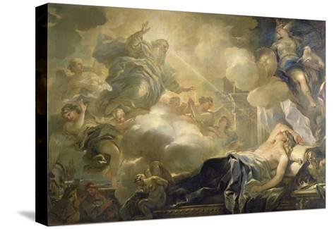 The Dream of Solomon, c.1693-Luca Giordano-Stretched Canvas Print