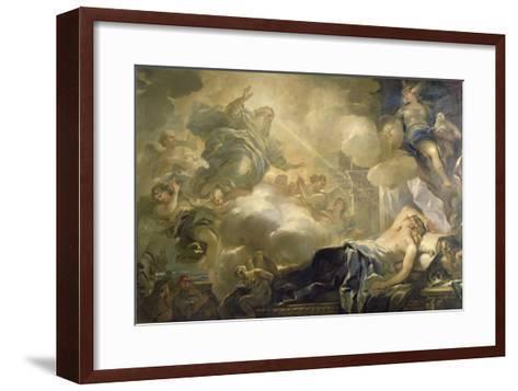 The Dream of Solomon, c.1693-Luca Giordano-Framed Art Print