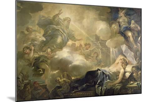 The Dream of Solomon, c.1693-Luca Giordano-Mounted Giclee Print