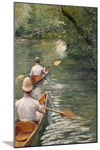 The Canoes, 1878-Gustave Caillebotte-Mounted Giclee Print