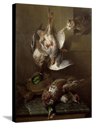 Cat Attacking Dead Game-Alexandre-Francois Desportes-Stretched Canvas Print
