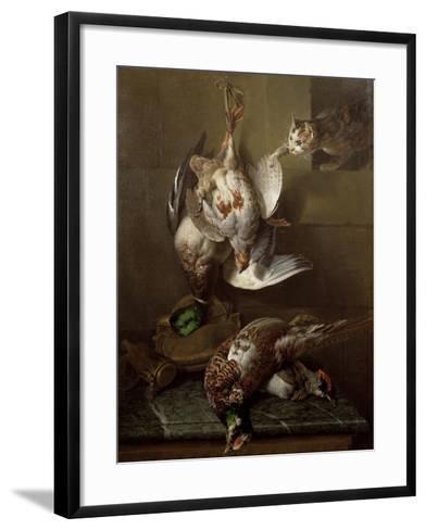 Cat Attacking Dead Game-Alexandre-Francois Desportes-Framed Art Print