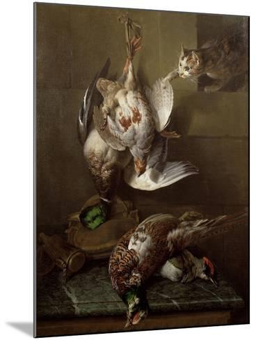 Cat Attacking Dead Game-Alexandre-Francois Desportes-Mounted Giclee Print