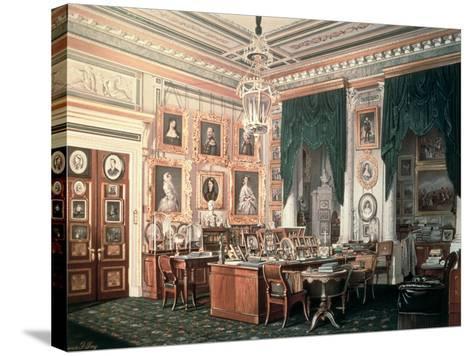 The Study of Alexander III-Eduard Hau-Stretched Canvas Print