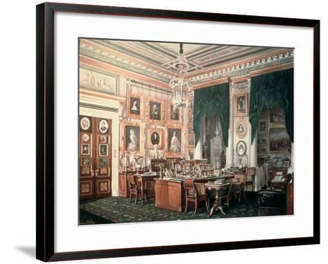 The Study of Alexander III-Eduard Hau-Framed Art Print