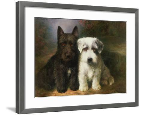Scottish And A Sealyham Terrier Lilian Cheviot Framed Art Print