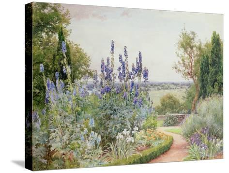 Garden Near the Thames-Alfred Parsons-Stretched Canvas Print