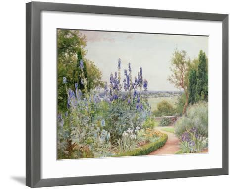 Garden Near the Thames-Alfred Parsons-Framed Art Print