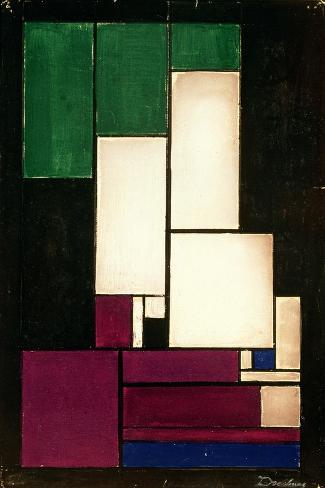 Composition, 1922-Theo Van Doesburg-Stretched Canvas Print