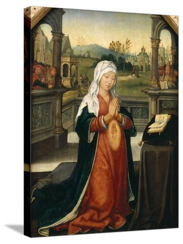 St.Anne Conceiving the Virgin-Jean The Elder Bellegambe-Stretched Canvas Print