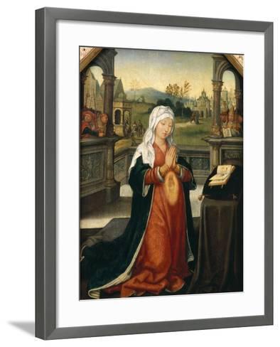 St.Anne Conceiving the Virgin-Jean The Elder Bellegambe-Framed Art Print