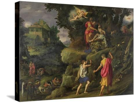 Sacrifice of Isaac, 1601-Alessandro Allori-Stretched Canvas Print