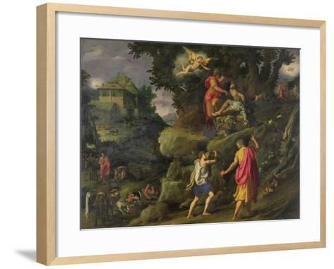 Sacrifice of Isaac, 1601-Alessandro Allori-Framed Art Print