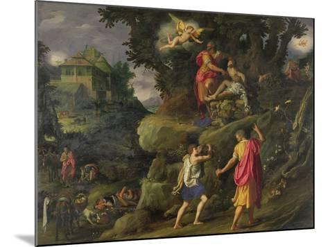 Sacrifice of Isaac, 1601-Alessandro Allori-Mounted Giclee Print