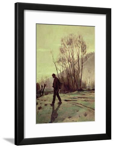 The Labourer-Joaquim Vayreda-Framed Art Print