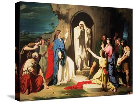 The Resurrection of Lazarus-Jose Casado Del Alisal-Stretched Canvas Print