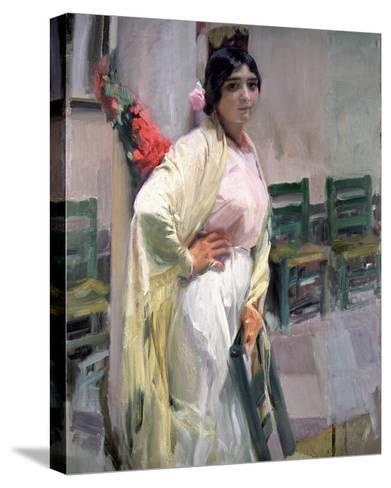 Maria, the Pretty One, 1914-Joaqu?n Sorolla y Bastida-Stretched Canvas Print