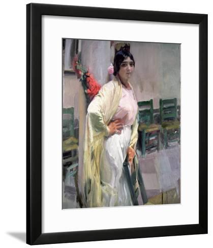 Maria, the Pretty One, 1914-Joaqu?n Sorolla y Bastida-Framed Art Print