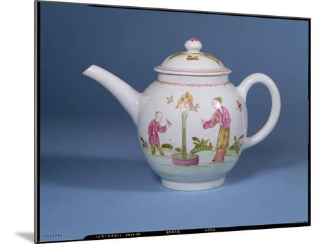 Teapot and Cover with a Dovecote and Two Chinoiserie Figures, c.1770-75--Mounted Giclee Print
